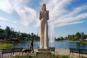 Lady of the Lake Echo Park Lake Echo Park CA