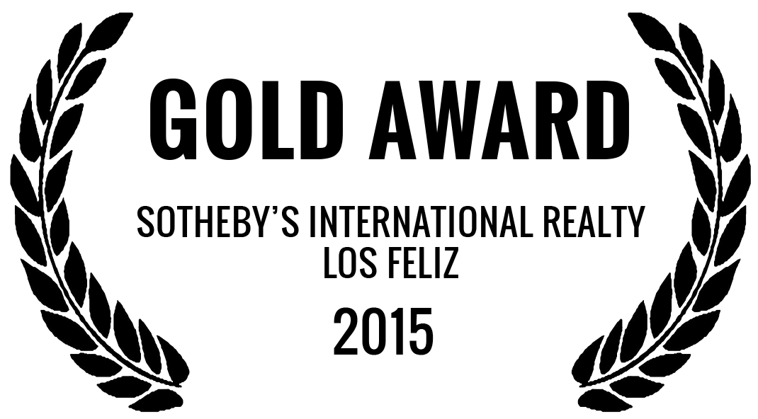 Sotheby's International Realty Gold Award | Los Feliz Real Estate | Los Feliz Realtor