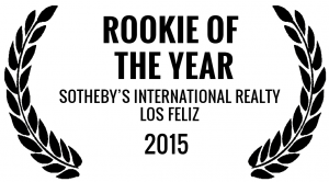 Rookie of the Year Sotheby's International Realty Los Feliz