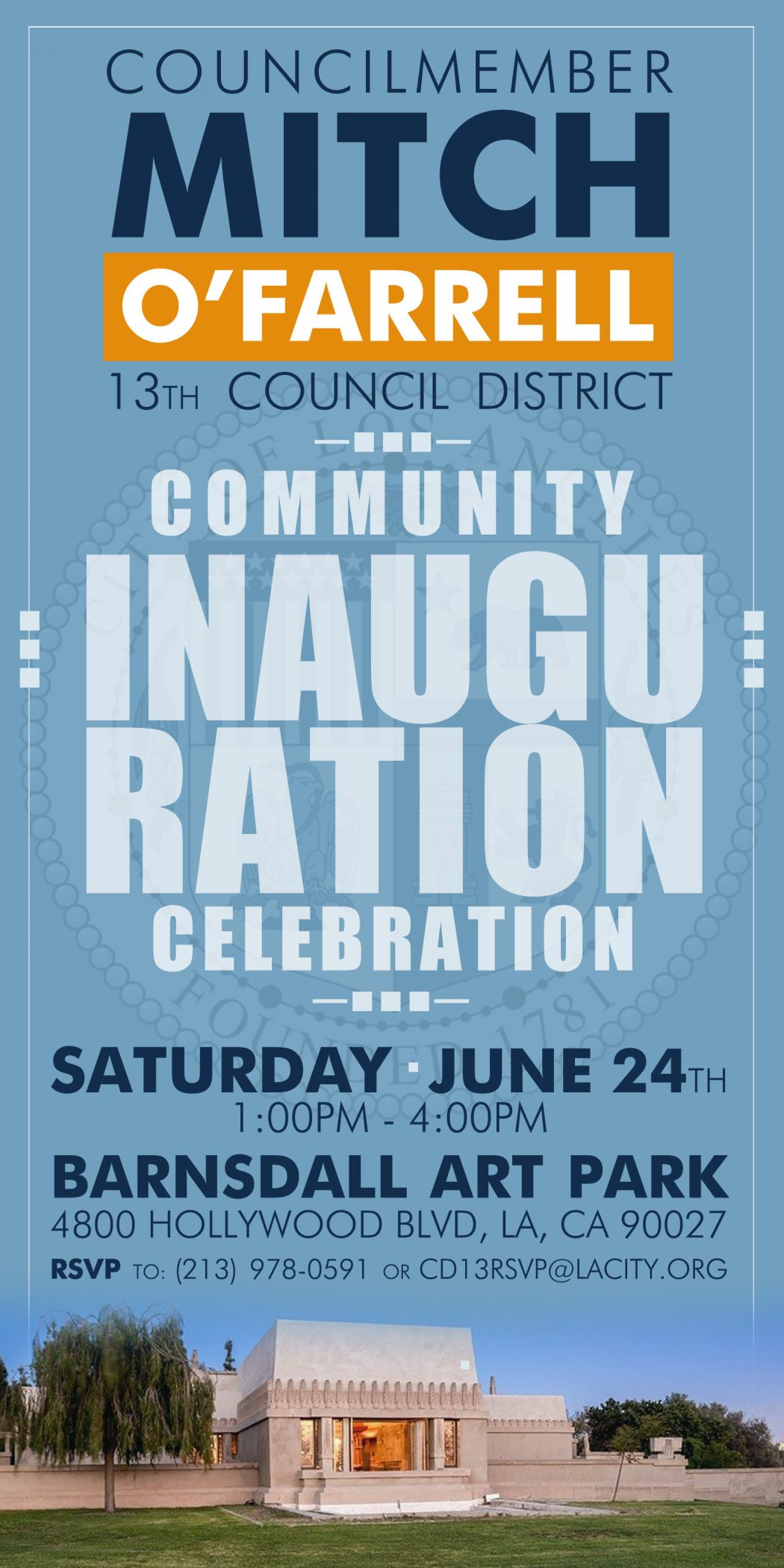 Councilmember Mitch O'Farrell Inauguration and Community Celebration | Silver Lake Realtor | Silver Lake Real Estate Agent