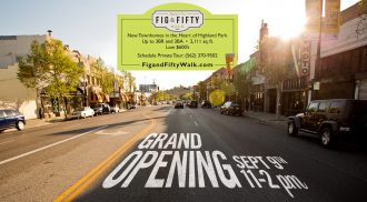 Fig and Fifty Walk Welcomes New Townhomes in Highland Park | Highland Park Homes For Sale | Highland Park Real Estate Agent
