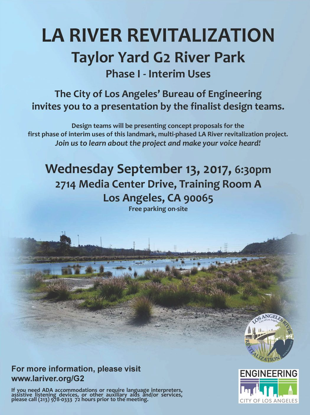 LA River Revitalization Taylor Yard G2 River Park Finalists Event | Atwater Real Estate Agent Glenn Shelhamer | Glassell Park Real Estate Agent