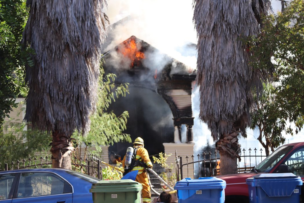Residential Fire Breaks Out in N Ave 53 Highland Park, Highland Park House Fire, Homes on Fir Highland Park Los Angeles